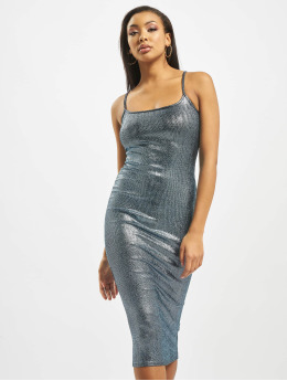 Missguided Kleid Metallic Strappy blau
