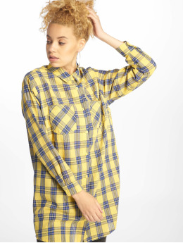 Missguided Kleid Oversized Shirt gelb