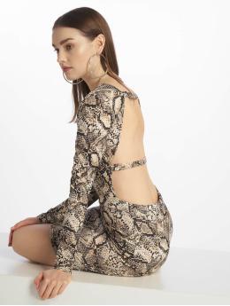 Missguided Kleid Long Sleeve Open Back grau