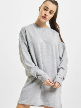 Missguided Kleid Oversized Sweater grau