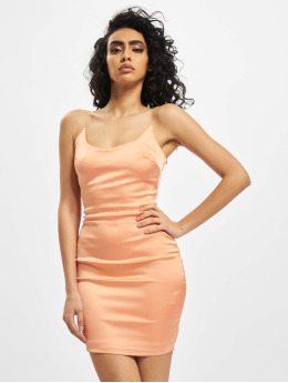 Missguided Kleid Stretch Satin Clear Strap  orange