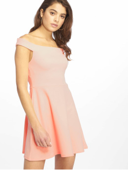 Missguided Kleid Bardot Skater rosa