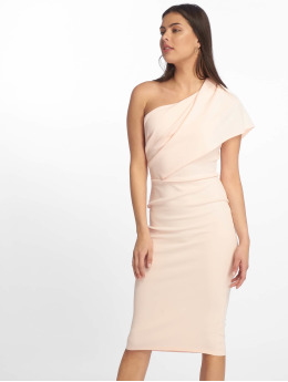 Missguided Kleid One Shoulder Midi rosa
