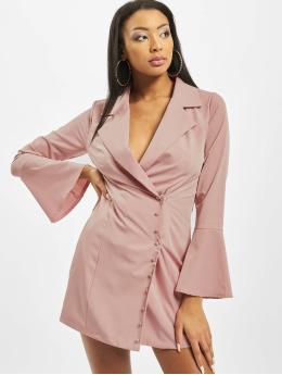 Missguided Kleid Asym Button Side Blazer rosa