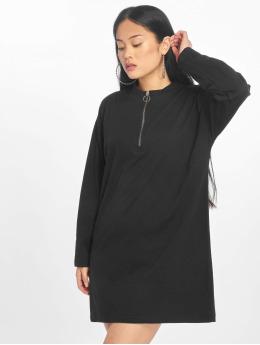 Missguided Kleid Oversized Zip Front Ls schwarz