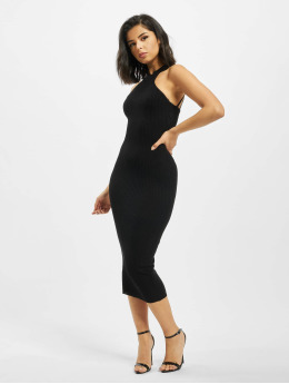 Missguided Kleid High Neck Back Neck Detail schwarz