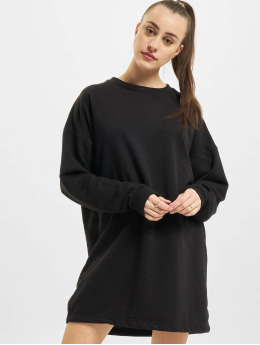 Missguided Kleid Oversized Sweater schwarz