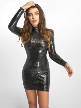 Missguided Frauen Kleid Sequin in silberfarben