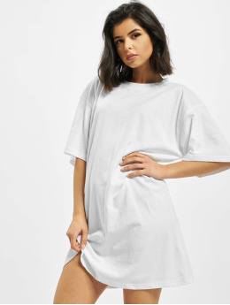 Missguided Kleid Angel Back Print Oversized weiß