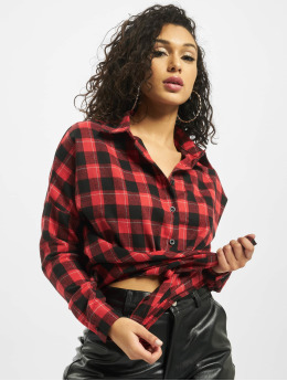 Missguided Košele Oversized Brushed Check èervená