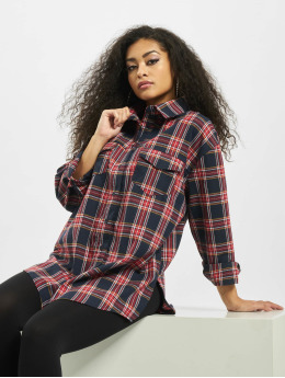 Missguided Košele Brushed Oversized Basic Check modrá