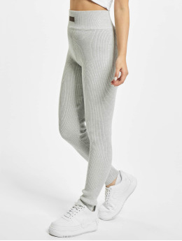 Missguided Leggings Msgd Lounge Rib Co Ord grå