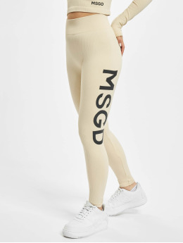 Missguided Leggings/Treggings Seamless Rib bezowy