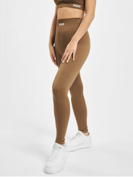 Missguided Leggings/Treggings Seamless brazowy