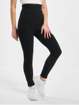 Missguided Leggings/Treggings Petite Sculpted Rib svart
