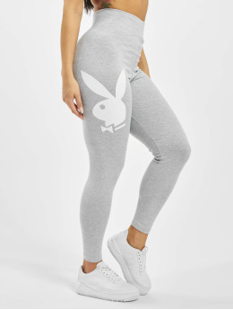 Missguided Leggings/Treggings Playboy Bunny Lounge szary