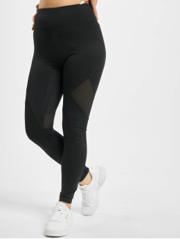 Missguided Leggingsit/Treggingsit Airtex Panelled musta