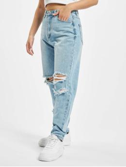 Missguided Máma džíny Petite Knee Rip Riot  modrý