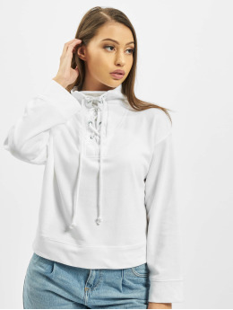 Missguided Maglia High Neck Tie Detail bianco