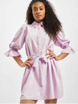 Missguided Mekot Puff Sleeve Belted Mini Shirt purpuranpunainen