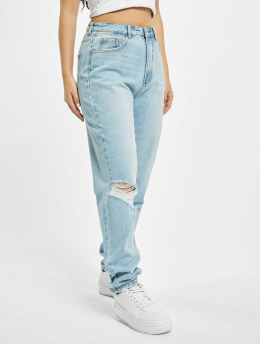 Missguided Mom Jeans Riot blau