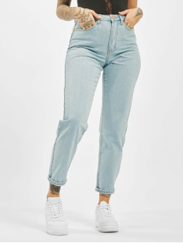 Missguided Mom Jeans Utility Button Plain Riot  blauw