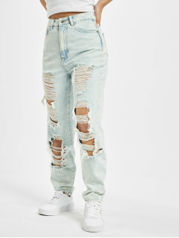 Missguided Mom Jeans Riot Light Vintage blue