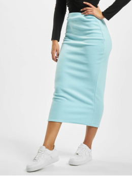 Missguided Nederdele Fleece Tie Waist Midi Co-Ord blå