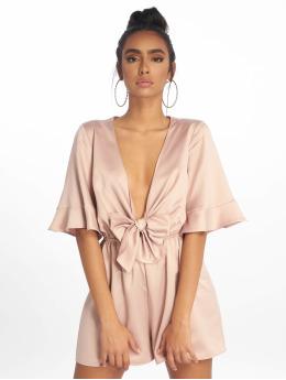 Missguided Overály Satin Kimono Sleeve béžová
