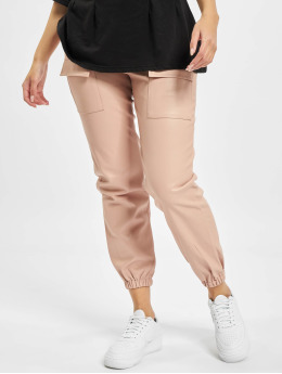 Missguided Pantalon chino Pocket Detail Pu Utility rose