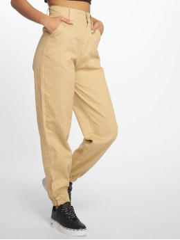 Missguided Pantalón deportivo Slim Leg  beis
