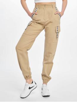 Missguided Pantalone Cargo Sand Sports Tape beige