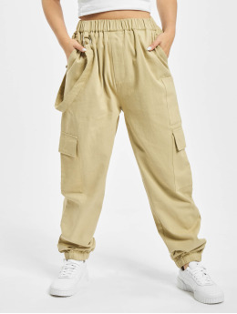 Missguided Pantalone Cargo Petited Ring Strap beige