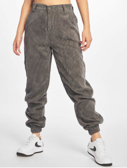 Missguided Pantalone chino Cord  grigio