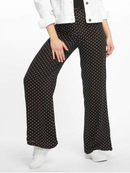 Missguided Pantalone chino Black Cheesecloth Polka Dot Wide Leg  nero