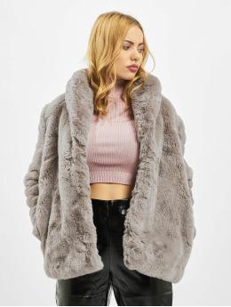 Missguided Parka Shawl Collar Faux Fur  grijs