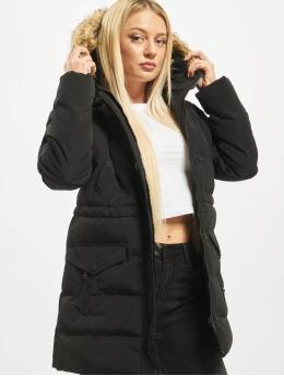 Missguided Puffer Jacket Longline Sporty  black