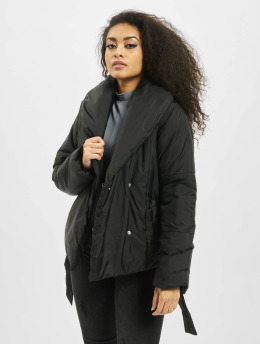 Missguided Puffer Jacket Wrap black
