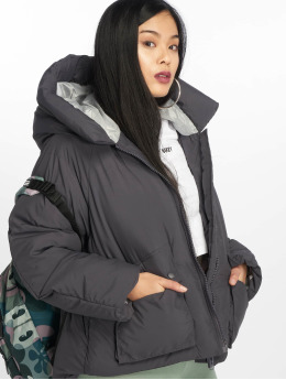 Missguided Puffer Jacket Hooded Ultimate grau