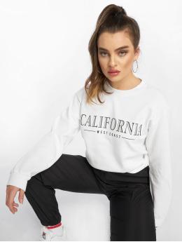 Missguided Frauen Pullover California Slogan in weiß