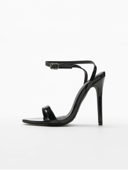 Missguided Pumpky Pointed Toe Barely There Patent  čern