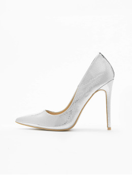 Missguided Pumps Entry Court Printed Croc 15 silver colored