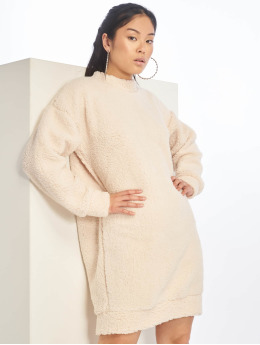 Missguided Robe Crew Neck blanc