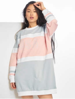 Missguided Robe Oversized Contrast Usa bleu