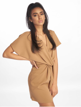 Missguided Robe Knot Front Shift brun