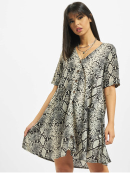 Missguided Robe Button Thru Smock Snake gris