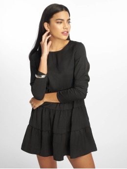 Missguided Robe Long Sleeve Smock noir