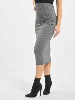 Missguided Rok Co Ord Ribbed grijs