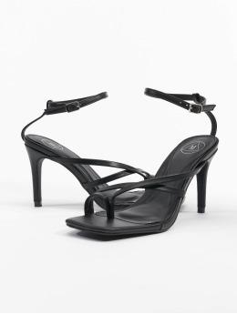 Missguided Sandály Cross Toe Post Low Heel čern