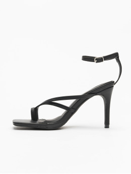 Missguided Sandalen Cross Toe Post Low Heel schwarz